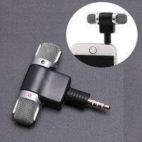Mini 3.5mm Jack mikrofon Stereo Mic do nagrywania telefon komórkowy Studio wywiad mikrofon 4 pin na smartphone|Mikrofony|   -
