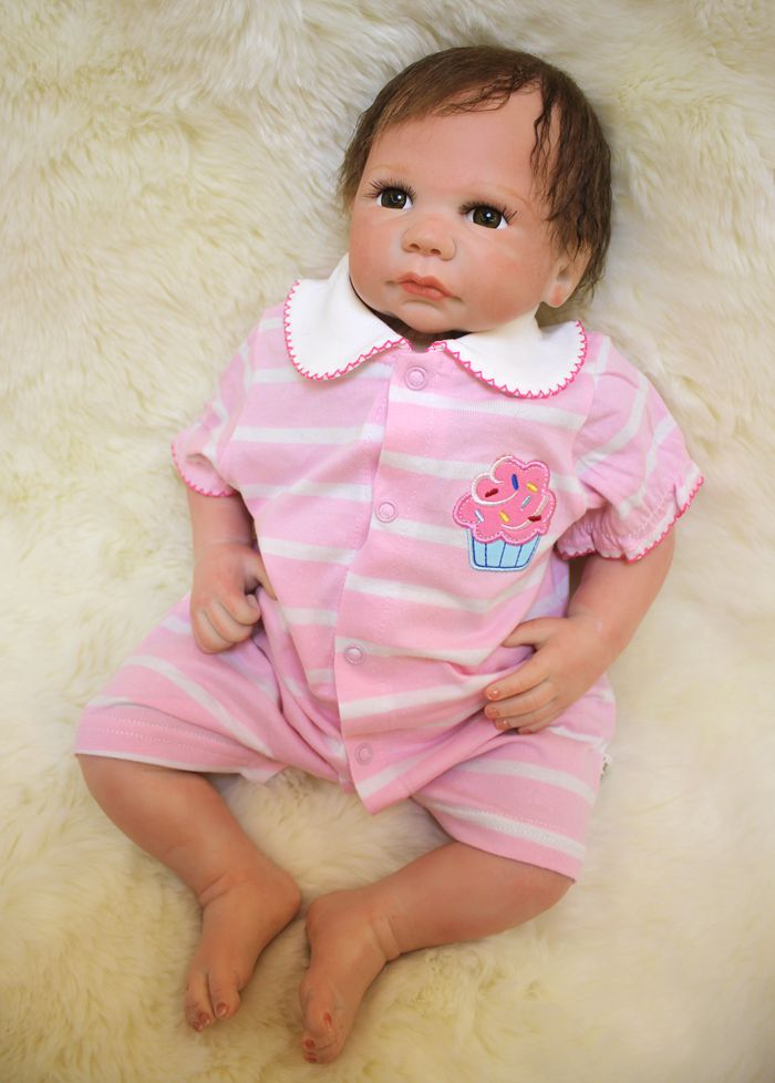 Soft Body Silicone Reborn Baby Dolls Toy Lifelike Exquisite Newborn Girls Babies With Cloth Body Play House Toy Collectable Doll silicone reborn baby dolls toy lifelike exquisite soft body newborn boys babies doll best birthday gift present collectable doll