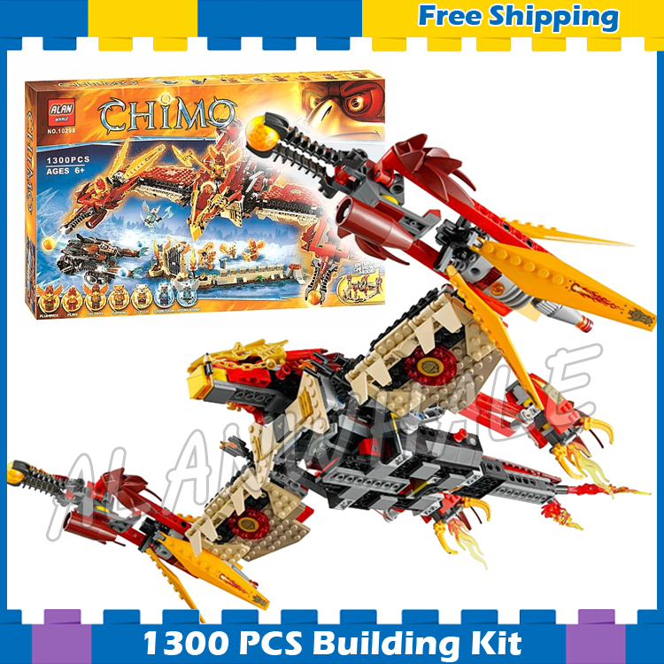 1300pcs New Bela 10298 Flying Phoenix Fire Temple Toys Gifts Sets DIY Kids Boy Model Building Blocks Bricks Compatible with Lego new phoenix 11207 b777 300er pk gii 1 400 skyteam aviation indonesia commercial jetliners plane model hobby