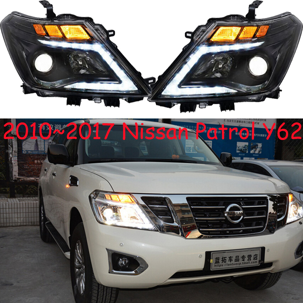 Car Head Light For Patrol Headlights Y62 2010 2011 2012 2013 2014 2015 2016 2017year Patrol Headlight DRL HI LO HID Xenon
