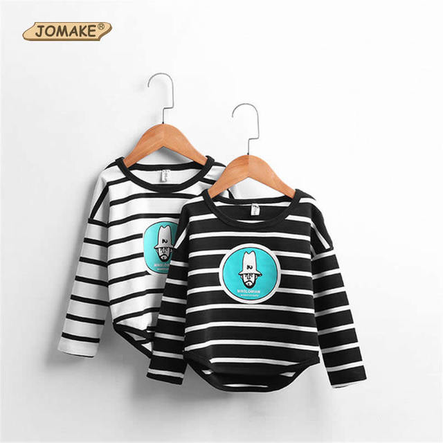 2017 New Spring Children Stripe T-Shirts Kids Long Sleeve Cartoon Character Tops For Girl And Boys Brand Toddlers Clothes