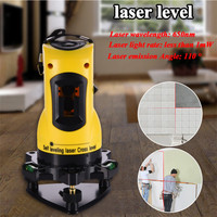 ZH SL203 Laser Level 650nm 2 Red Cross Lines 360 Rotary Degree Self Leveling Nivel Laser Diagnostic tools Yellow