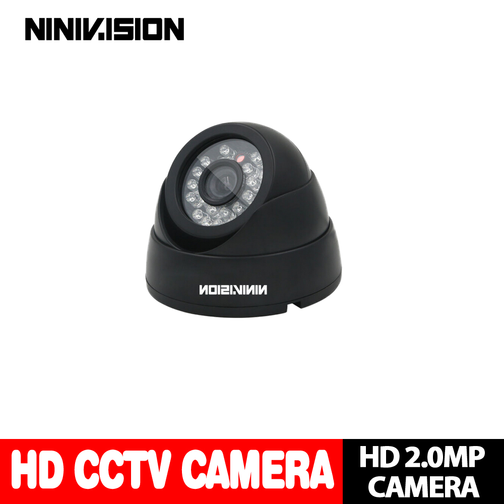 цены NINIVISION Home HD 3000TVL Video Surveillance 2MP AHD Indoor Mini Black Dome infrared Security 1080P CCTV Camera Free Shipping