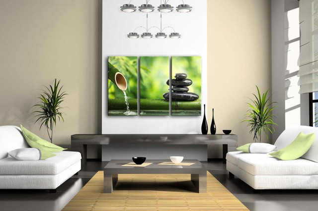 Zen Stones Patterned Framed Wall Canvas Print
