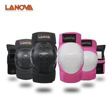 Lanova 6pcs Skating Protective Gear Sets Elbow Knee Pads Bike Skateboard For Adult Kid destroyer pro elbow xl purple skateboard pads