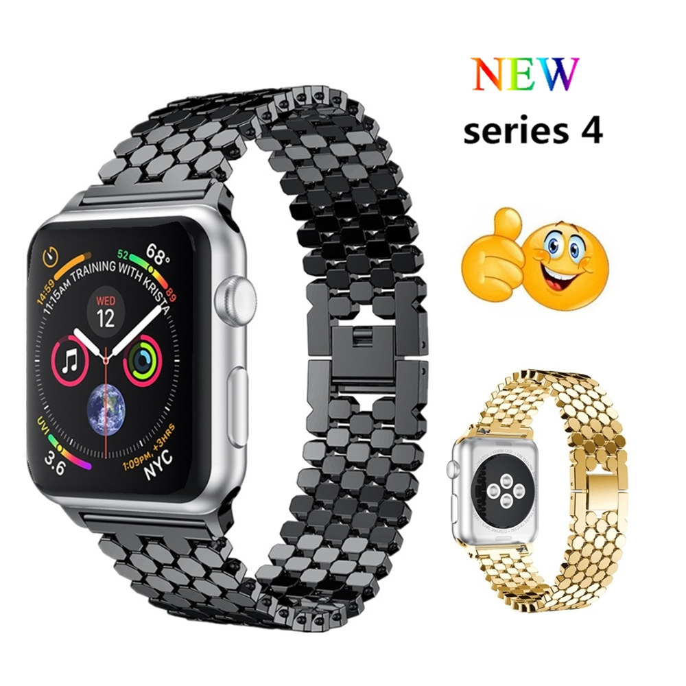 Stainless steel strap For Apple watch band 4 44mm 40mm correa Aple watch 42mm 38mm Watchband iwatch 4 3 2 1 bracelet wrist belt for apple watch band 4 44mm 40mm leather strap correa 42mm 38mm bracelet wrist watchband iwatch series 4 3 2 1 replacement belt