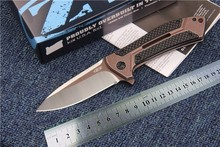 New tactical folding knife camping hunting survival pocket gift knives Flippers ZT0801CF hand tools D2 blade carbon fiber handle