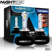 NIGHTEYE H7 9005/HB3 9006/HB4 Hi-Lo Chùm H4 Dẫn Bóng Đèn Xe 6500 K Trắng CSP Chip 50 Wát Bộ Đèn Pha Tự Động H11 Sương Mù đèn