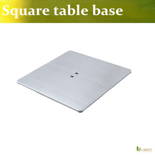 U-BEST Stainless Steel Square Base Matte Stainless Steel Square Base available in dining and bar heights. Suitable for indoor