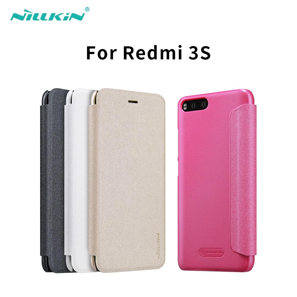 Pour xiaomi redmi 3 s 3 s couverture dur back cover NILLKIN PU étui en cuir flip couverture pour xaomi redmi 3 xiaomi redmi 3 pro premier