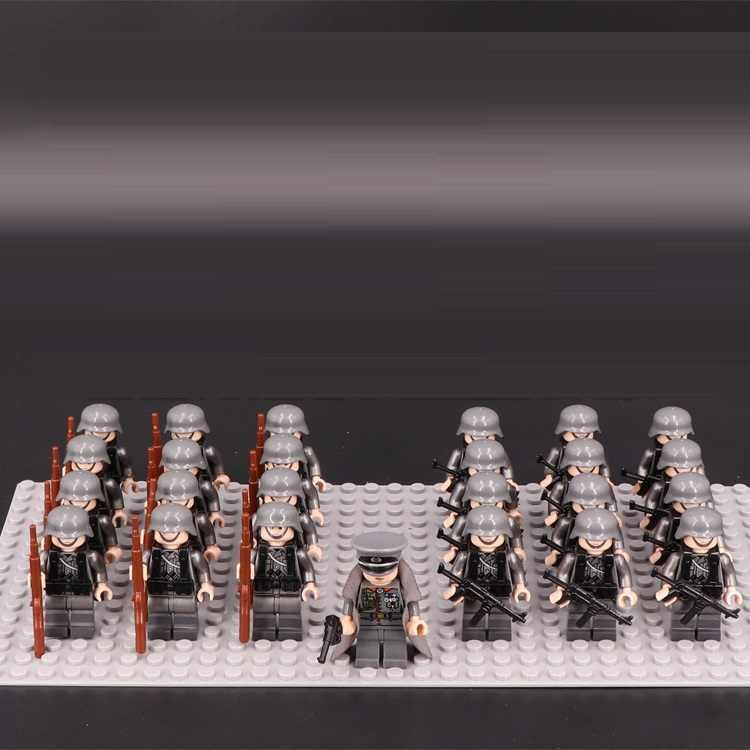 Вторая мировая война военный мастер оригинальные Diy блоки игрушки спецназ полицейские военные игрушечное оружие совместимые Мини фигурки Playmobil