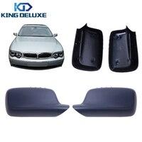 2 шт. зеркало заднего вида крышки двери крыло Caps чехол подходит для BMW E46 E65 E66 323 328 330 745 750 760 автомобилей Styling # W031