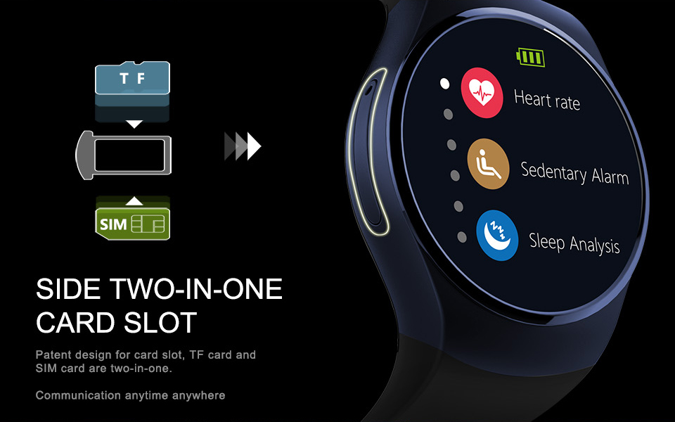 """LEMFO LF18 Bluetooth MTK2502C Smartwatch 1.3""""IPS Round Screen Support Heart Rate Reloj inteligente For IOS Android PK KW18"""