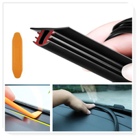 UType 1.6M Car Dashboard Strip Front Windshield Sealing Rubber Strips for BMW 330e M235i Compact 520d 518d 428i 530d 130i
