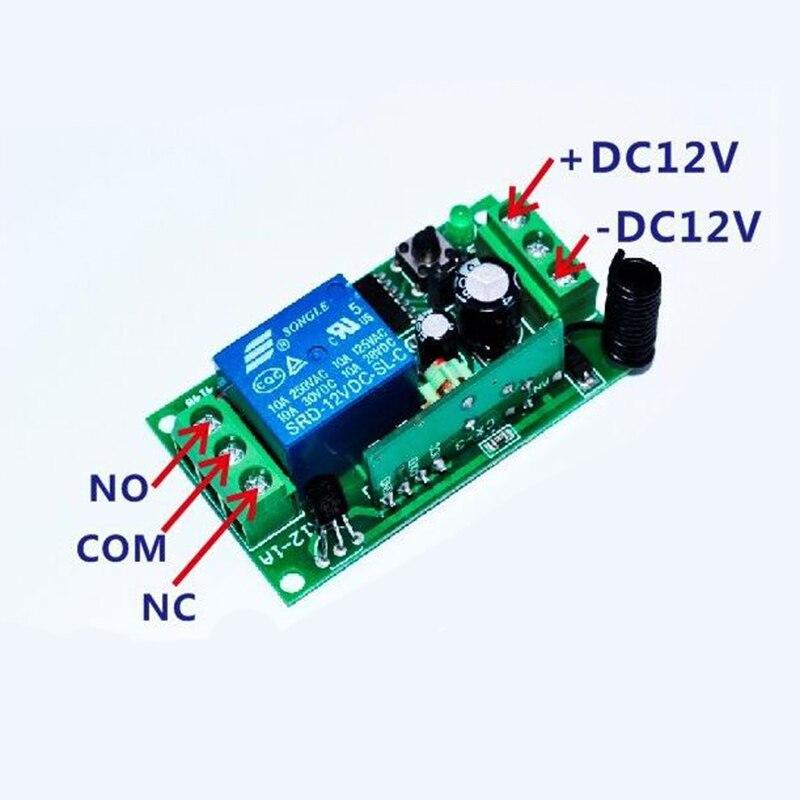DC12V 1CH 10A Беспроводной Выключатель питания системы teleswitch 18 приемник и 2 передатчика пульт дистанционного управления 10A выходное состояние регулируется - 2