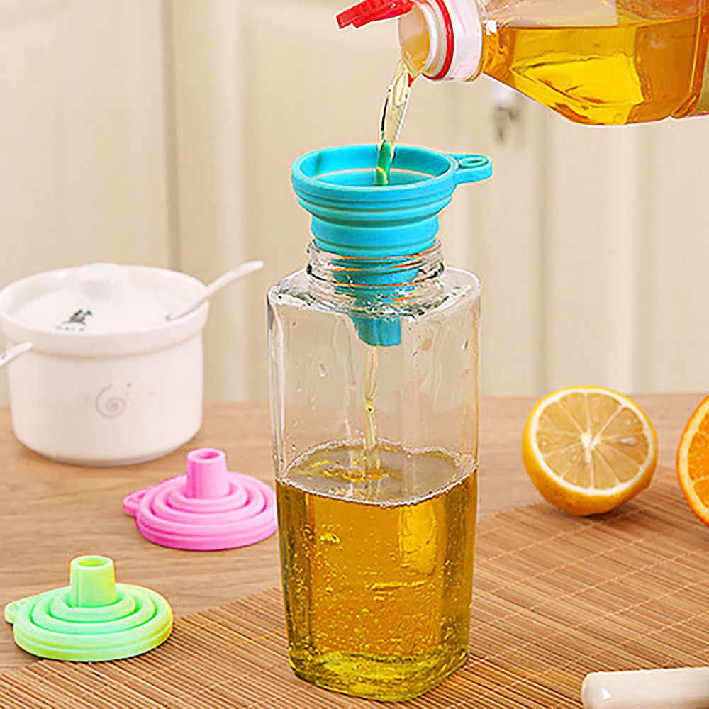 Mini Foldable Collapsible Funnel Shampoo Soy Sauce Hand Soap Hopper Kitchen Cooking Tools Eletrodomesticos De Cozinha