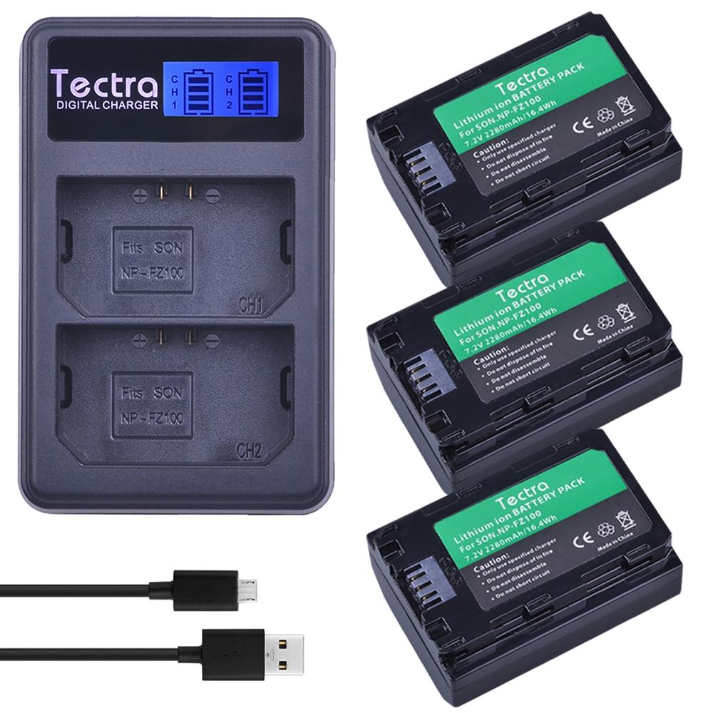 3 pcs NP FZ100 NP-FZ100 NPFZ100 battery+LCD USB Dual Charger for Sony ILCE-9, BC-QZ1, a7r3, A7RIII, ILCE-7RM3, A9R, 7RM3, camera durapro 4pcs np f970 np f960 npf960 npf970 battery lcd fast dual charger for sony hvr hd1000 v1j ccd trv26e dcr tr8000 plm a55