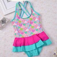 2018 New Cute Baby Girl Swimwear One Piece Kids Girls Swimsuit Toddler Bathing Suit Cake Skirt