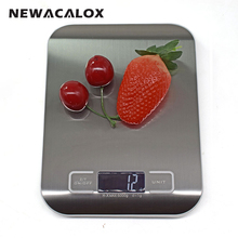NEWACALOX Household Electronic Kitchen Scale 5kg Cooking Tools Food Die Postal Balance LCD Digital Weight Health Scales