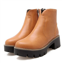Fashion 2016 fashion autumn ankle boots pu leather shoes black Martin Boots Brand Dr Designer Motorcycle