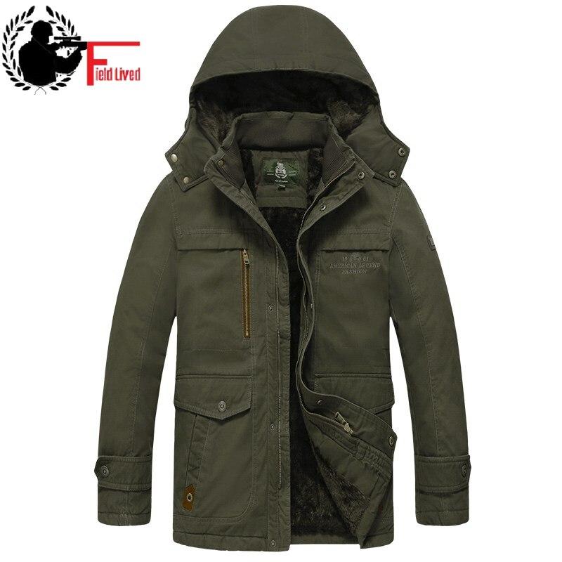 Winter Mens Jackets 2019 Windbreaker Brand Warm Thick Coats Nature Cotton   Parka   Mediun Long Style Hooded Male Outwear -30 Degree