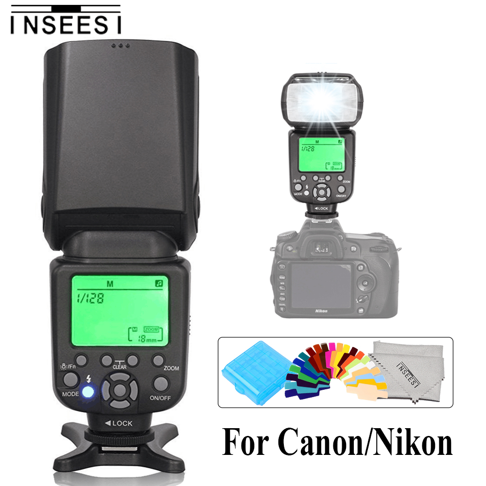 INSEESI IN-560IV FlashOR IN586EX II TTL HSS Wireless Flash Speedlite For Canon 5D 60D 7D 700D Nikon D80 D7000 D5100 DSLR Cameras цена