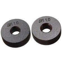 2 шт. инструмент накатки Серебряная сталь диагональные колеса линейный накатка 1 мм шаг 26x8x8 мм