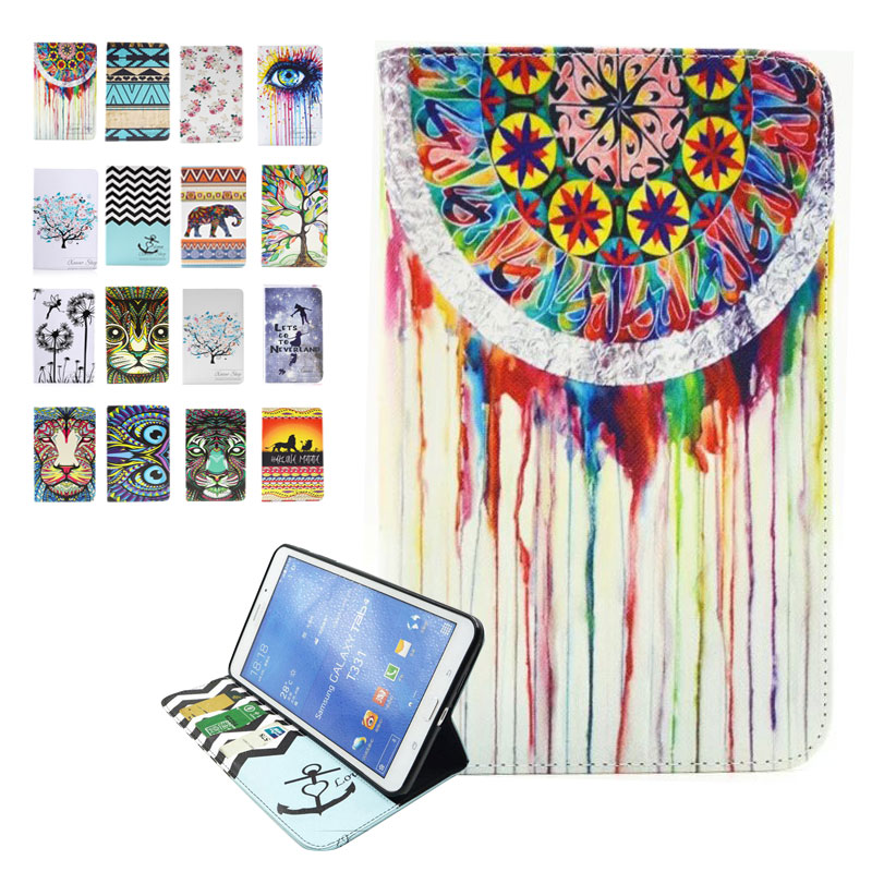 For Samsung Galaxy Tab 4 7.0 Case T230 T231 Painted Leather Case for Galaxy Tab 4 7.0 Flip Stand Case for Samsung Tab 4 7.0 Case