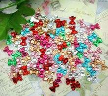 300Pcs Mixed Bowknot Bling Resin Decoration Crafts Flatback Cabochon Scrapbooking Embellishments Beads Diy Accessories