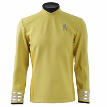 Man Jacket Woman Shirt Star Trek Beyond Kirk Sulu Spock Scott Cosplay Costumes Halloween Uniforms Top Yellow Red Blue