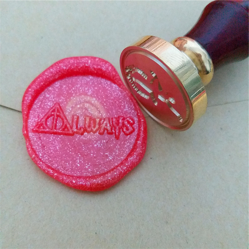 Harry Potter Inspired DH AlwaysAlways Imprint Retro College Badge stamp set, Harry Potter seal wax stamp, wax sealing stamp always