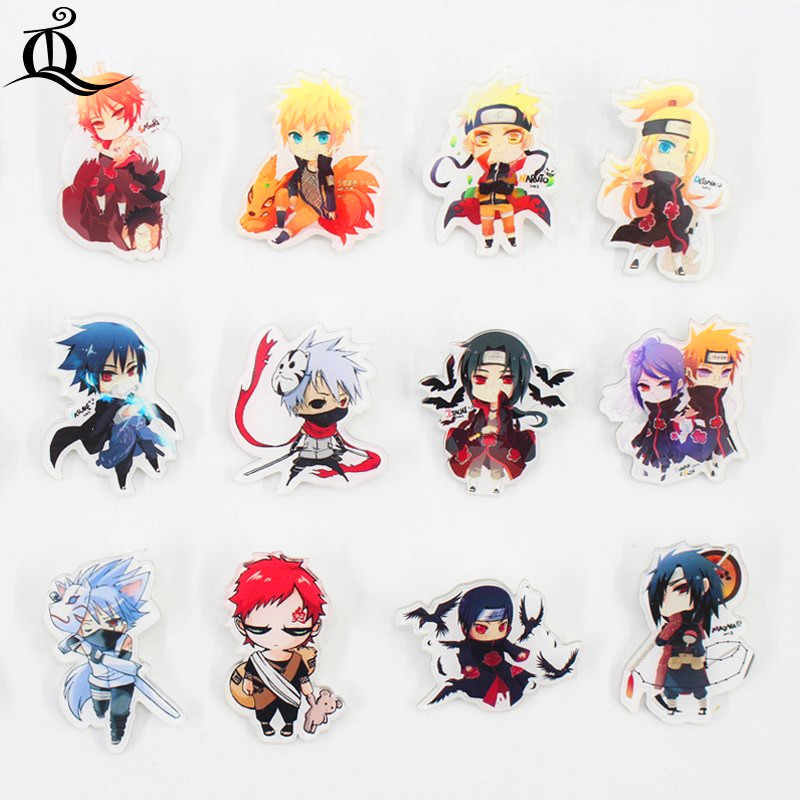 1 st Acryl Broches Cartoon Anime Naruto Sasuke Broches Rugzak Student Kleding Broches Pins Bag Decor Broche Badges Z15
