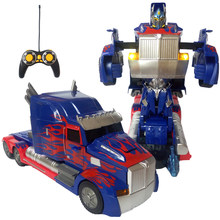 RC car Transformation Robots Car toys model Xmas gift action figure toys Christmas Boy toys gift Juguetes Toys for children(China)