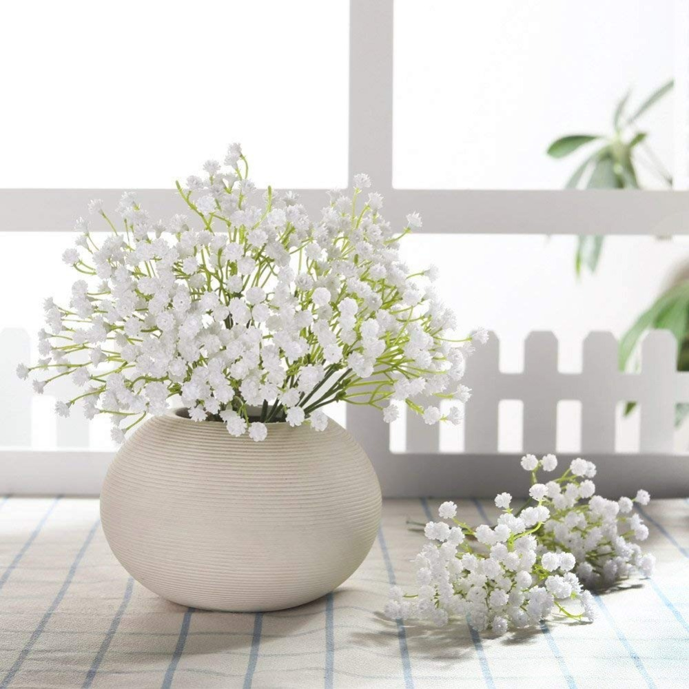 CHENCHENG 1 Piece White Babies Breath Artificial Flowers For Wedding Home Decor