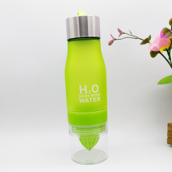 Portable 650ml Water Bottle Health Lemon Juice Cup