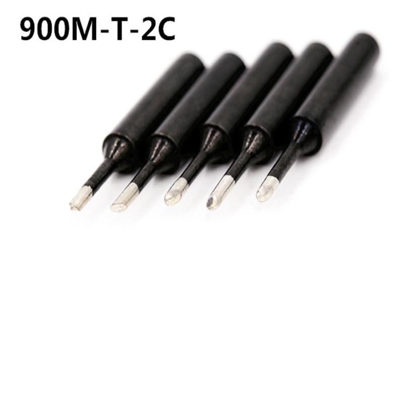 SZBFT 5piece Black 900M-T-2C Series Horseshoe Type Iron Head Welding Tip Soldering Iron Tip 900M-T 1C 3C 4C K B I SK 1.2D 1.6D