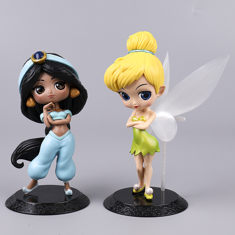 Disney Princess Q Version Characters Bell Jasmine Princess PVC Action Figure Collectible for Dolls Figurines Kids Toys Gift 2A37Disney Princess Q Version Characters Bell Jasmine Princess PVC Action Figure Collectible for Dolls Figurines Kids Toys Gift 2A37