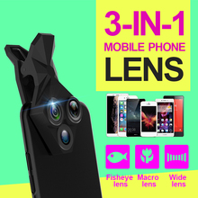 3 in 1 20X macro lens+0.35x fish eyes+0.65 wide angle lens Kit with Wide AngleMacroFisheye Lens for iPhone Samsung XIAOMI VIVO