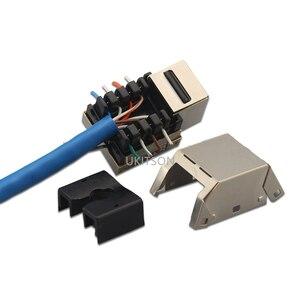Image 5 - 1 ポート猫 6 RJ45 イーサネット壁前面プレート押出ワイヤーソケット 86 × 86 ミリメートル Xbox ネットワーク LAN コード