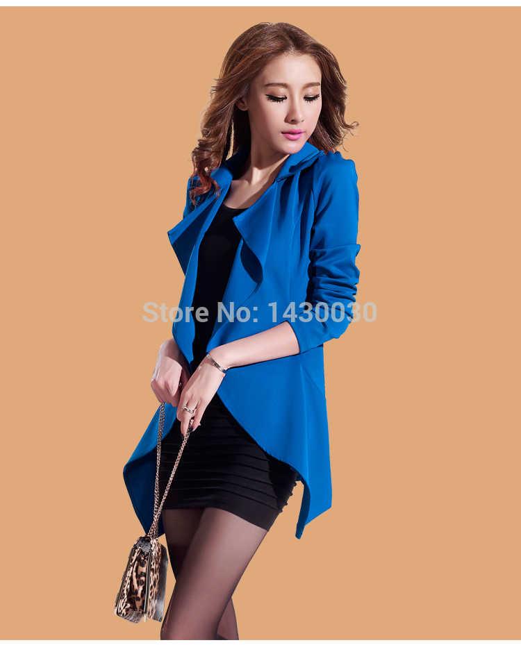 Vente automne femmes blazers avec robe grande taille costume serré 2 pièces dames décontracté pliable manteaux vestes feminino costume blazers