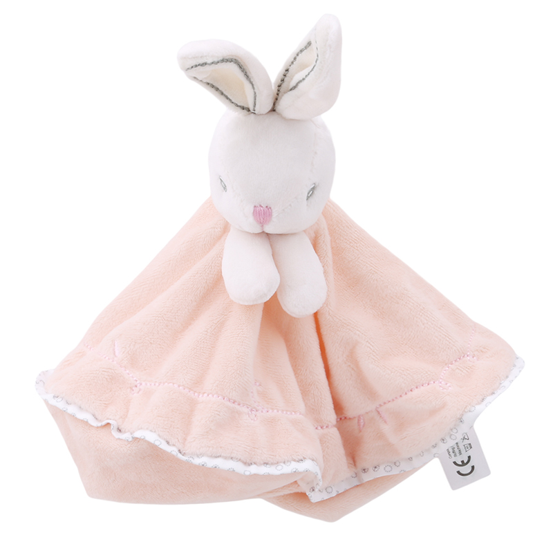 Newborn Baby Toys Pacifier Doll Soothing Towel Rabbit Infant Soft Soother Towel Cartoon Animal Educational Plush Toys