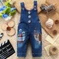 9 M-24 M Del Bebé Ropa Bebe Boy Kwaii Elefante Pantalones Largos de Dibujos Animados Mono Denim Jeans Monos Mamelucos Ropa del niño