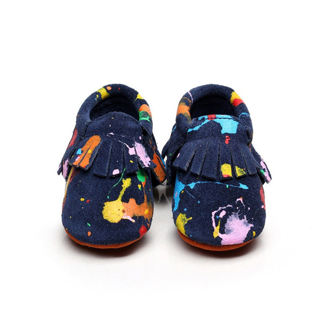 Multicolor leather matte Spring Baby Shoes Newborn Boys Girls Shoes First Walkers Baby Moccasins