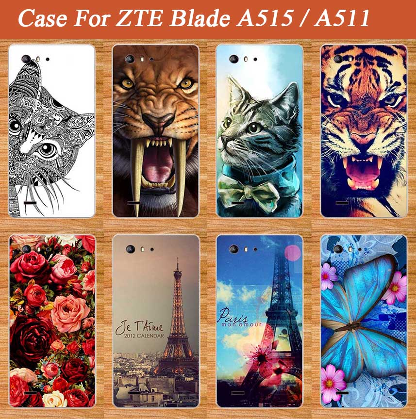 For Zte Blade A515 A511 Case Cover Luxury Diy UV Painting Colored Soft Tpu Case For ZTE Blade A 515 A 511 Silicone Phone Bags image