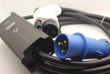 CEE 3 булавки plug SAE J1772 тип 1 5 булавки Регулируемый EVSE10 16 20 24 32A с 5 м кабель для электрический автомобиль дома зарядки и EV plug