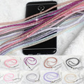 Honey Universal crystal Bling Strap Long Luxury neck lanyard cell phone mobile telephone belt hang chain key ID PASS card