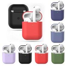 ТПУ силиконовый Bluetooth беспроводной чехол для наушников AirPods 2 защитный чехол Аксессуары для кожи для Apple Air pods 2 зарядная коробка