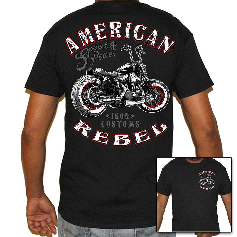 gildan man t shirt men 39 s american rebel biker t shirt in t. Black Bedroom Furniture Sets. Home Design Ideas