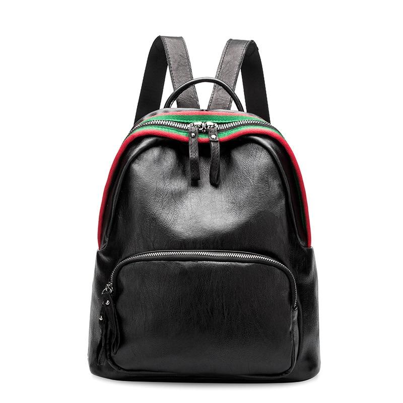 Fashion Shoulder Bag Genuine Leather Women Giels Ladies Backpack Travel Bag High Quality Backpacks