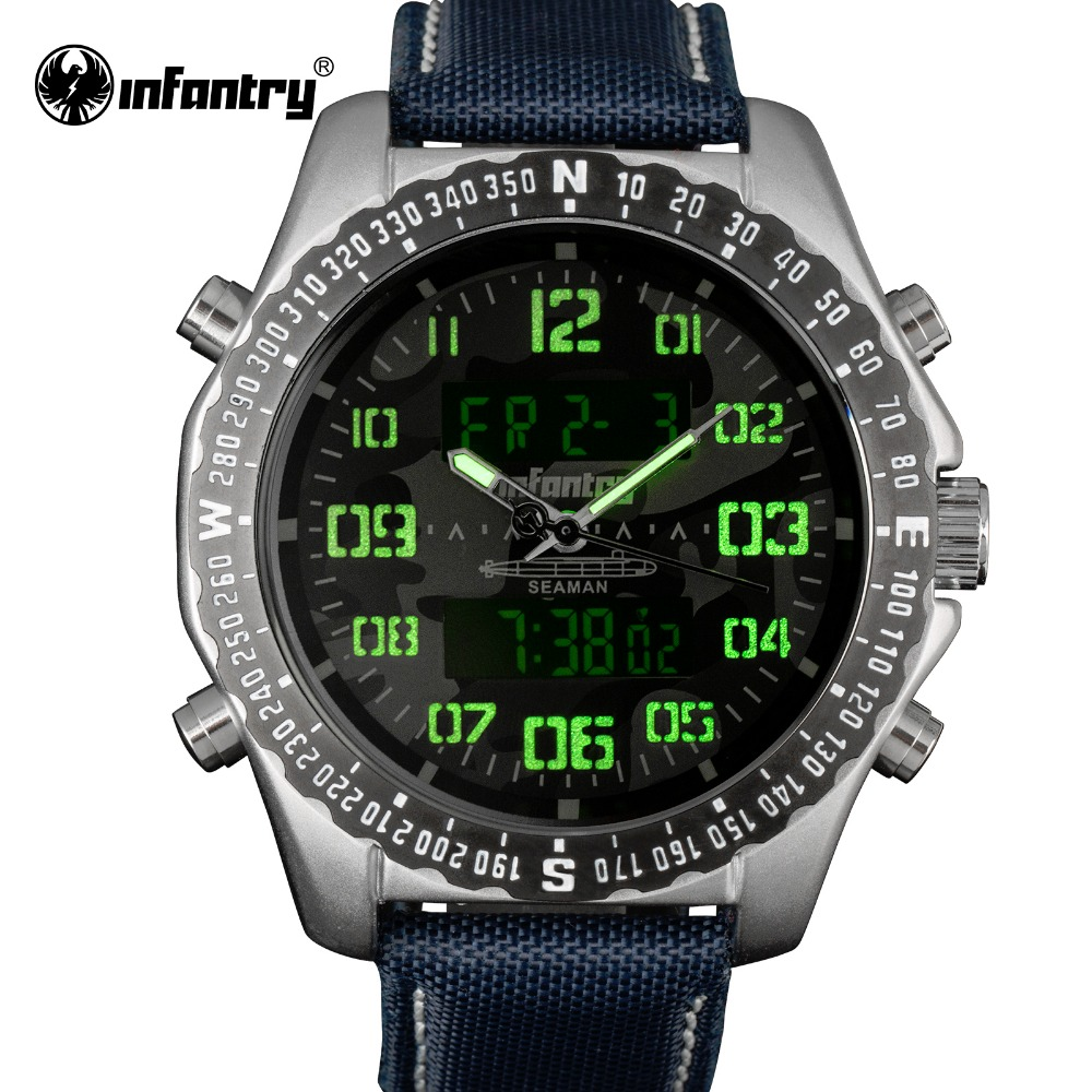 infantry mens watches waterproof camo style chronograph